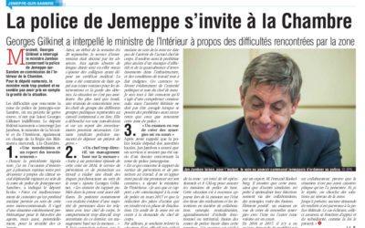 Question au Ministre de l'Intérieur concernant la zone de police de Jemeppe-sur-Sambre