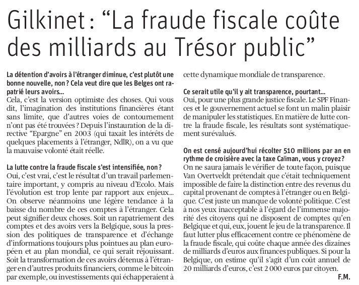 """""""La fraude fiscale coûte des milliards au Trésor public"""""""