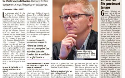 """""""Gilkinet : faire bouger le gouvernement"""" – L'Avenir, 15 novembre"""