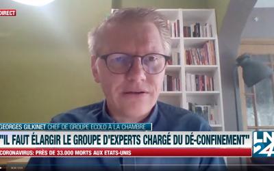 """""""Il faut élargir le groupe d'experts chargé du dé-confinement"""" – Georges Gilkinet sur LN24"""
