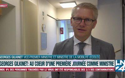 Voici à quoi ressemble la première journée de Georges Gilkinet comme ministre